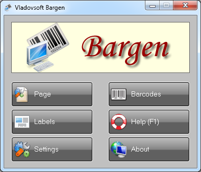 Click to View Full ScreenshotVladovsoft Bargen 6.0.2 screenshot