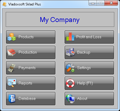 Vladovsoft Sklad screenshot: warehouse management software, warehouse software, inventory software, inventory management, inventory management software, software for warehouses, software for storehouses, software for shops, software for invoices
