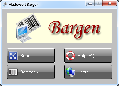 Click to view Vladovsoft Bargen 5.0.1 screenshot