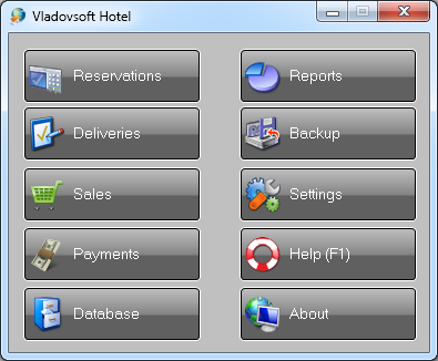 Vladovsoft Hotel - software for hotels, hotel software, hotel management software, software for reservations, software for accommodations - Vladovsoft Hotel is an easy to use hotel management software.